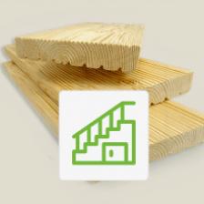 Террасная доска на лестницу из лиственницы 45x145x2000 Прима