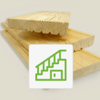Террасная доска на лестницу из лиственницы 45x145x3000 Прима