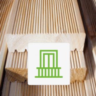 Террасная доска на балкон из лиственницы 45x145x4000 Прима