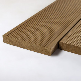 Палубная доска термо-лиственница сорт А 25х140х4000